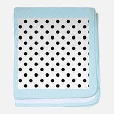 Girls just wanna have dots - white/bl baby blanket