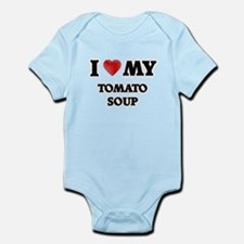 I Love My Tomato Soup food design Body Suit