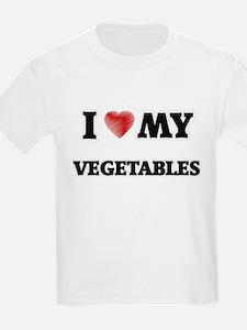 I Love My Vegetables food design T-Shirt