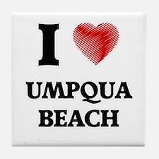 I love Umpqua Beach Oregon Tile Coaster