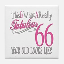 66th Birthday Gifts Tile Coaster