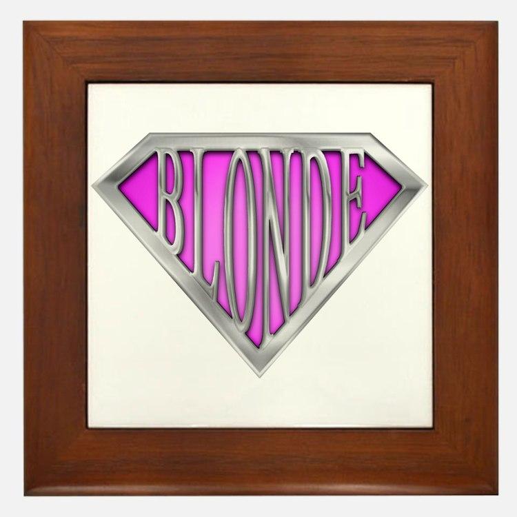 SuperBlonde(pink) Framed Tile