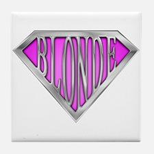 SuperBlonde(pink) Tile Coaster