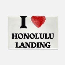I love Honolulu Landing Hawaii Magnets