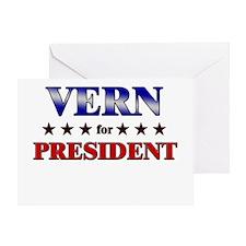 VERN for president Greeting Card