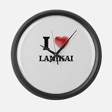 I love Lanikai Hawaii Large Wall Clock