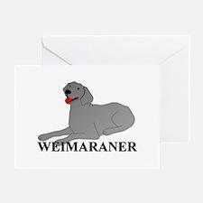 Cartoon Weimaraner Greeting Card