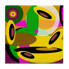 Abstraction 2, signed, Tile Coaster