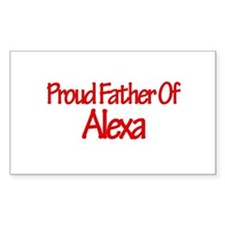 Proud Father of Alexa Rectangle Decal