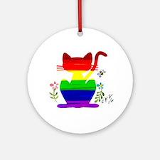 Cute Gay bears Round Ornament