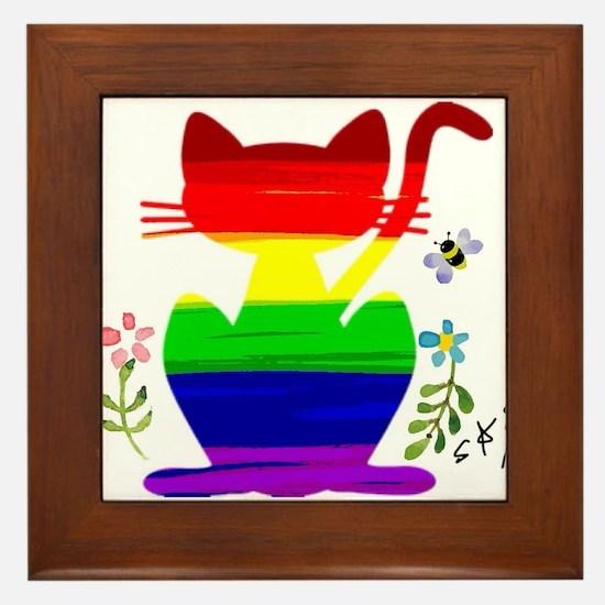 Unique Gay rights Framed Tile