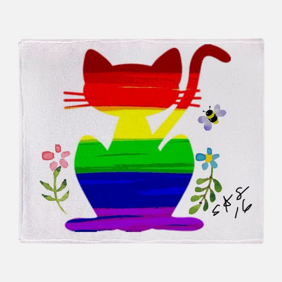Unique Gay ally Throw Blanket