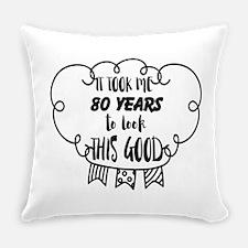 80th birthday Everyday Pillow