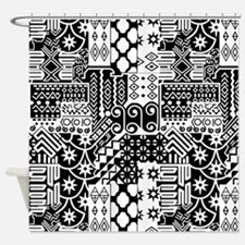 Black and white Geometric African Tribal Pattern S