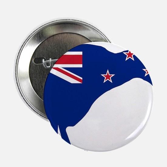 "New Zealand Flag With Kiwi SIlhouette 2.25"" Button"