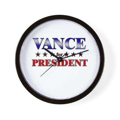 VANCE for president Wall Clock