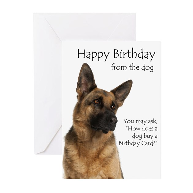 Dogs Greeting Cards Thank You Cards and Custom Cards – Birthday Card from Dog