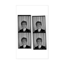 Hillary Photo Booth Rectangle Decal
