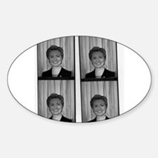 Hillary Photo Booth Oval Decal