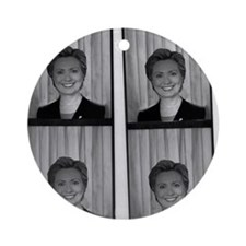 Hillary Photo Booth Ornament (Round)