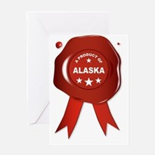 Unique Alaska state seal Greeting Card