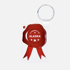 Funny Alaska state seal Keychains