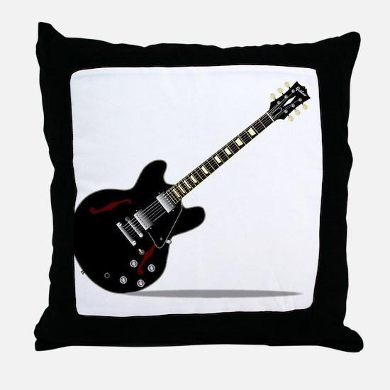 Unique Blue guitar Throw Pillow