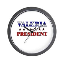 VALERIA for president Wall Clock