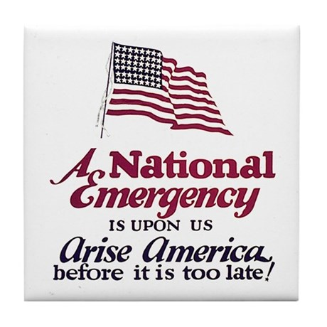 National Emergency Tile Coaster