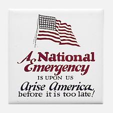National Emergency Tile Coaster