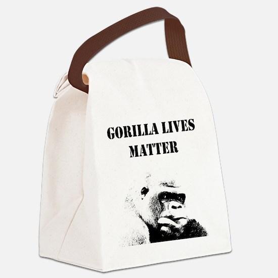 Unique Gorilla Canvas Lunch Bag
