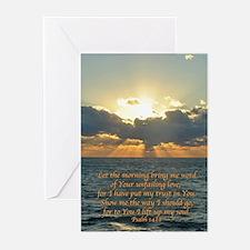 psalm143v Greeting Cards
