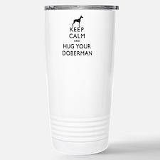 Cute Doberman rescue Travel Mug