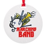 Marching Band Round Ornament