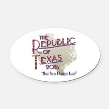 Texas secede Oval Car Magnet