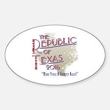 Funny Texas secession Sticker (Oval)