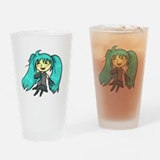 Cute Hatsune miku Drinking Glass