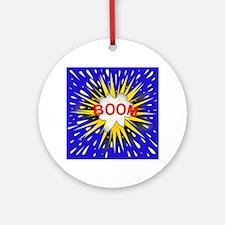 Boom Cartoon Bubble Round Ornament