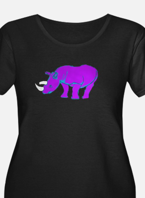 purplebluerhino Plus Size T-Shirt