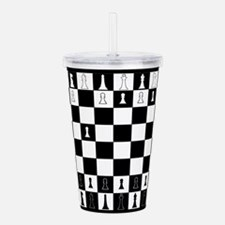 First Move Chess Game Acrylic Double-wall Tumbler