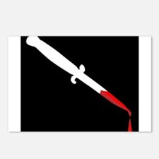 Flick Knife With Blood Postcards (Package of 8)