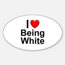Being White Sticker (Oval)
