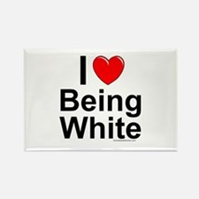 Being White Rectangle Magnet