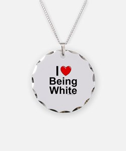 Being White Necklace Circle Charm