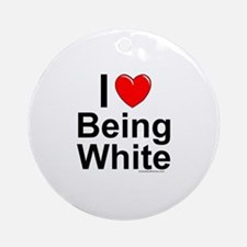 Being White Round Ornament