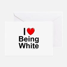Being White Greeting Card