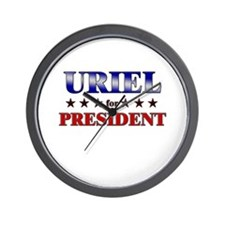 URIEL for president Wall Clock