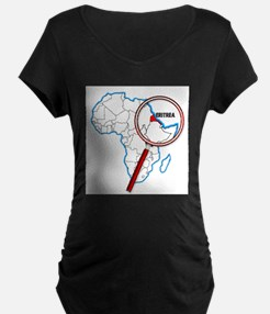 Eritrea Under A Magnifying Glass Maternity T-Shirt