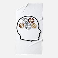 Metal Brain Beach Towel