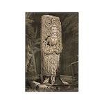 Copan Stele D Mayan Rectangle Magnet (100 pack)